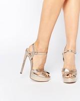 Gold Platform Heels - ShopStyle