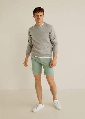 MANGO Technical cotton chino bermuda shorts