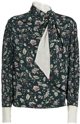 Isabel Marant Silk Keith Pussybow Blouse