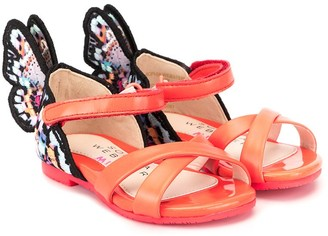 Sophia Webster Mini crossover Butterfly sandals