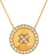 Van Cleef & Arpels Diamond Button Pendant Necklace
