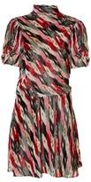 Etoile Isabel Marant Lazy striped abstract-print velvet dress