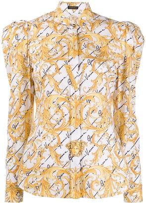 Versace puff shoulder blouse