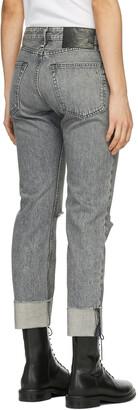 Rag & Bone Grey Mid-Rise Rosa Jeans