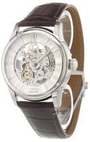 Oris 'Artelier Skeleton' analog watch