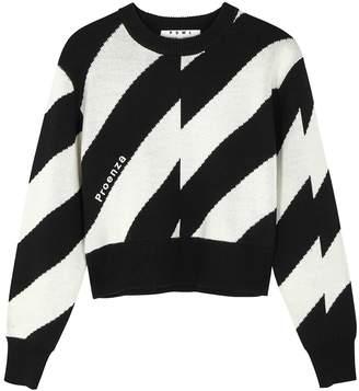 Proenza Schouler Black Cropped Wool-blend Jumper