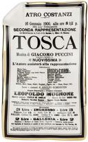 Fornasetti Locandina Tosca Sheet Ashtray/Trinket Tray
