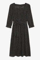 Monki Long square neck dress