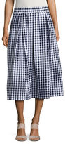 Imnyc Isaac Mizrahi Gingham Pleated Skirt