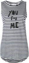 Chinti & Parker striped slogan tank top