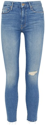 Mother The Looker light blue skinny jeans