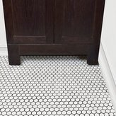 "EliteTile Retro 0.875"" x 0.875"" Hex Porcelain Mosaic Tile in Matte White"