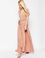 Asos Maxi Tea Dress With Wrap Front