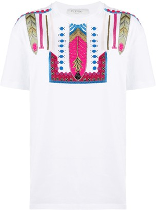 Valentino Pop Feathers embroidery T-shirt