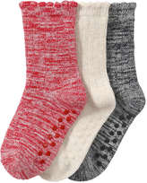 Joe Fresh Toddler Girls' 3 Pack Melange Socks, Red (Size 1-3)