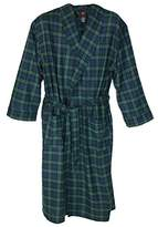 Hanes Men's Big and Tall Cotton Flannel Robe