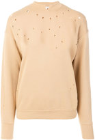 Helmut Lang slash neck jumper