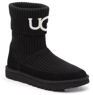 UGG Knit Logo Bootie