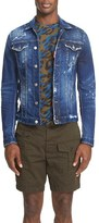 DSQUARED2 Men's Distressed Denim Jacket