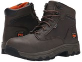 Timberland 6 Linden Alloy Safety Toe (Brown Microfiber) Men's Work Boots