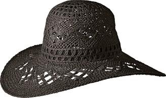 Ale By Alessandra Women's Floresta Intricate Weave Toyo Boho Floppy Hat