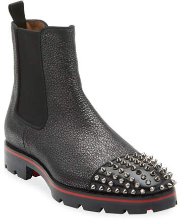 the best attitude 08173 fe5e3 Men's Melon Spikes Pebbled Leather Chelsea Boots