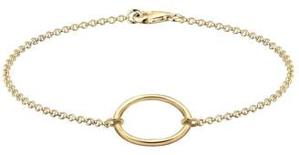 Elli Women's 925 Sterling Silver Circle of Life Gold-Plated Bracelet of Length 18cm