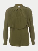 Frame Mixed Military Silk Shirt
