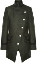 Vivienne Westwood State Asymmetric Wool-blend Coat - Army green