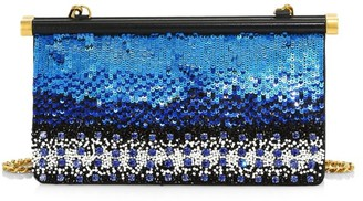 Valentino Carry Secrets Beaded Leather Clutch