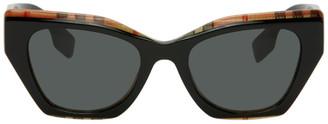 Burberry Black Check Cat-Eye Sunglasses