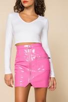 superdown Simone Zip Mini Skirt