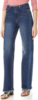 Rebecca Taylor Raw Edge Denim Jeans