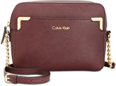 Calvin Klein On My Corner Saffiano Leather Crossbody