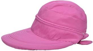Xinqiao Woman Baseball Caps Sun Hat Wide Brim Sun Visor Summer Beach Golf Hat (Red)