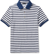Etro - Slim-fit Striped Cotton-blend Terry Polo Shirt