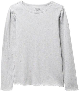 Harper Canyon Foil Long Sleeve T-Shirt (Big Girls)