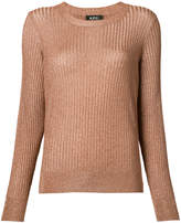 A.P.C. metallic rib jumper