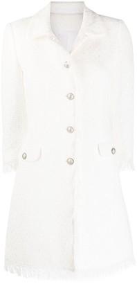 Tagliatore Blondie fringed-edge tweed coat