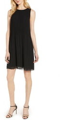 Halogen Pleated Sleeveless Shift Dress
