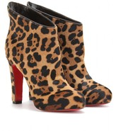 Christian Louboutin PONY LEOPARD LUXOR 120 PLATFORM ANKLE BOOTS