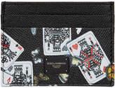 Dolce & Gabbana Black King Of Hearts Card Holder