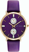 Ted Baker Women's 10024714 Dress Sport Analog Display Japanese Quartz Purple Watch