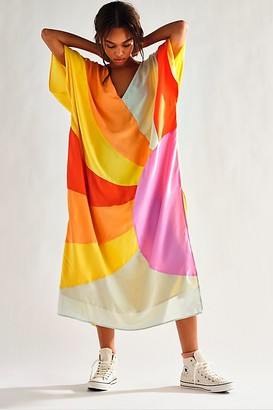 Free People Sunshine Silk Kaftan