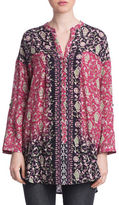 Plenty by Tracy Reese Floral Print Henley Tunic