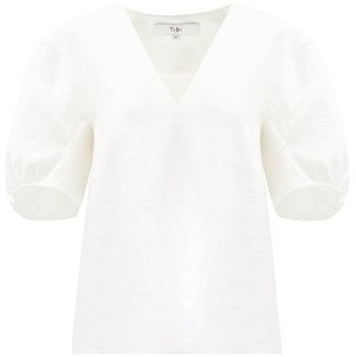 Tibi Puff-sleeved Crepe Blouse - Ivory