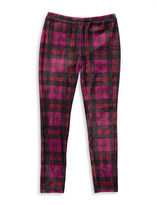 Jessica Simpson Girls 7-16 Plaid Velvet Leggings