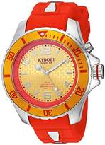 KYBOE! 'Power' Quartz Stainless Steel and Silicone Casual Watch, Color:Red (Model: KY.48-014.15)