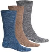 Muk Luks Five-Color Marled Socks - 3-Pack, Crew (For Men)