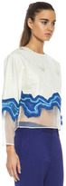 3.1 Phillip Lim Embroidered Geode Poly Top in Ivory